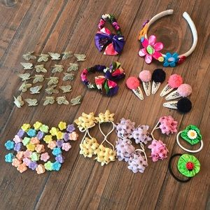 Gymboree Accessories - Bundle of 75 girls hair accessories Gymboree & Gap